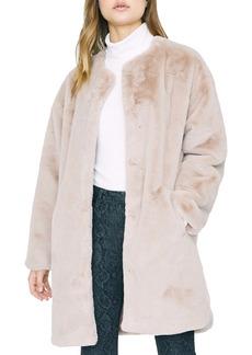 Sanctuary Bronx Faux Fur City Coat (Regular & Petite)