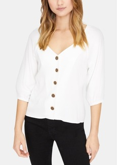 Sanctuary Modern Button-Front Peasant Top