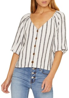 Sanctuary Button Front Striped Top