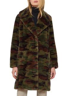 Sanctuary Camo Faux Fur Coat