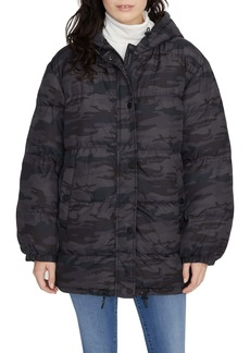 Sanctuary Camo Hooded Puffer Coat
