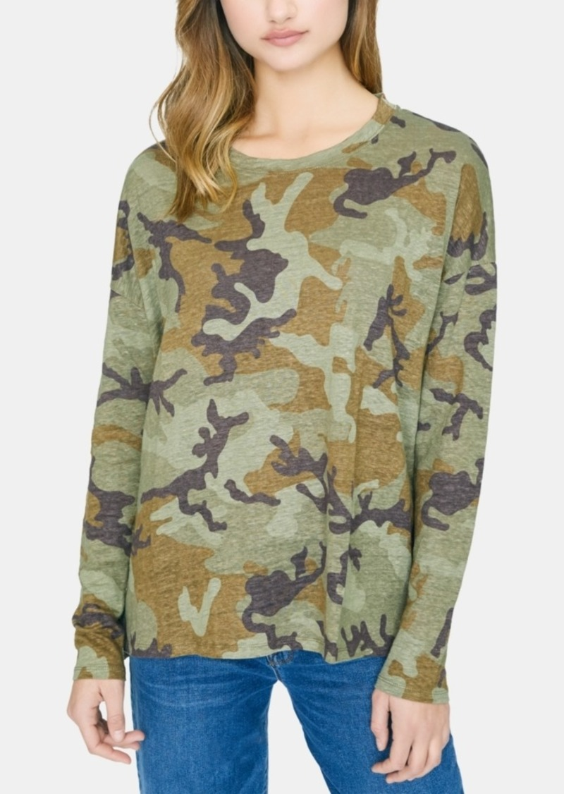 Sanctuary Carlee Camo Linen Long Sleeve T-Shirt