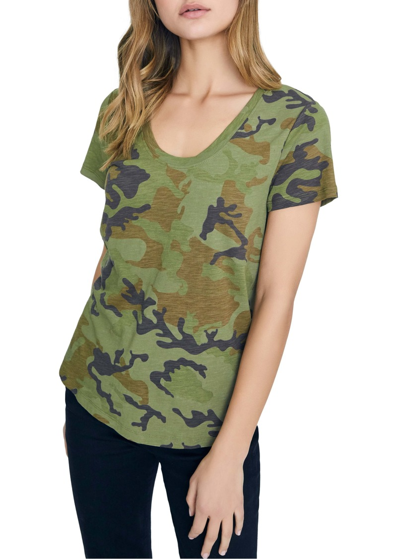 Sanctuary Camo Print Cotton Blend Tee (Regular & Petite)