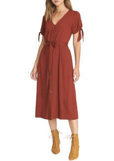 Sanctuary Can't Get Enough Tie Sleeve Midi Dress (Regular & Petite)