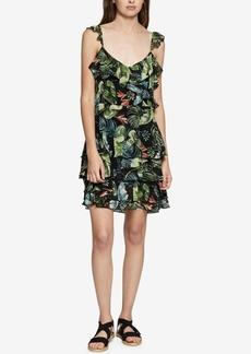Sanctuary Capri La Havana Floral-Print Ruffled Dress
