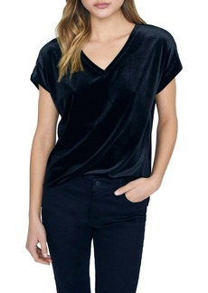 Sanctuary Cassia Stretch Velvet Top (Regular & Petite)