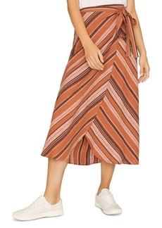 Sanctuary Catching Rays Striped Faux Wrap Skirt