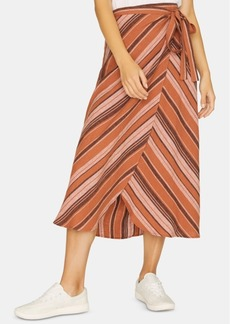 Sanctuary Catching Rays Striped Faux-Wrap Skirt