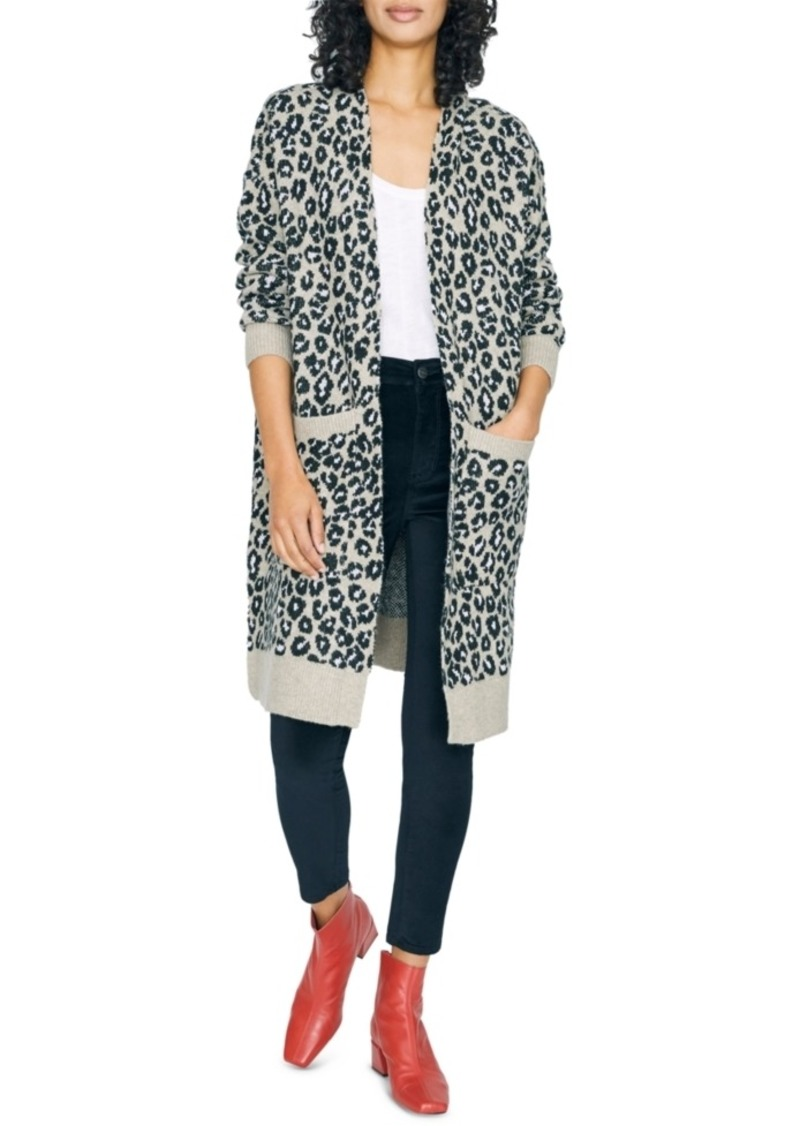Sanctuary Cats Meow Printed Open-Front Cardigan