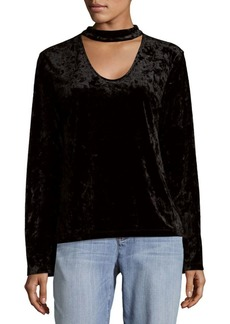 Sanctuary Choker Accent Velvet Tee