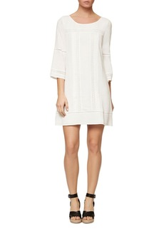 Sanctuary Clemence Crochet Trim Shift Dress