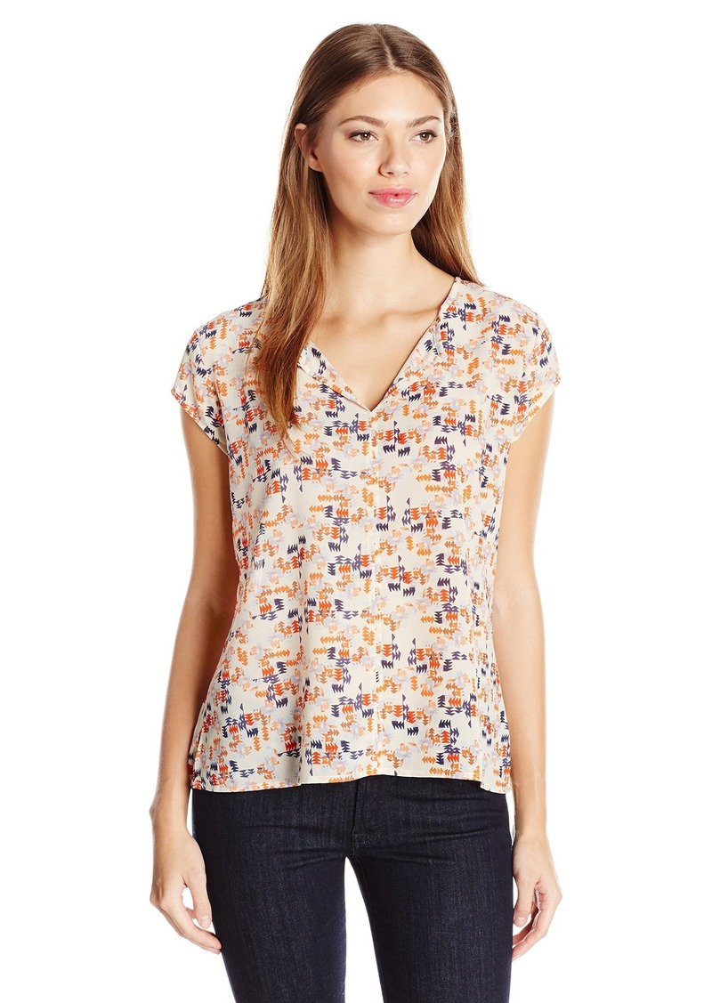Sanctuary Clothing Women's City Girl Printed Pleated Blouse