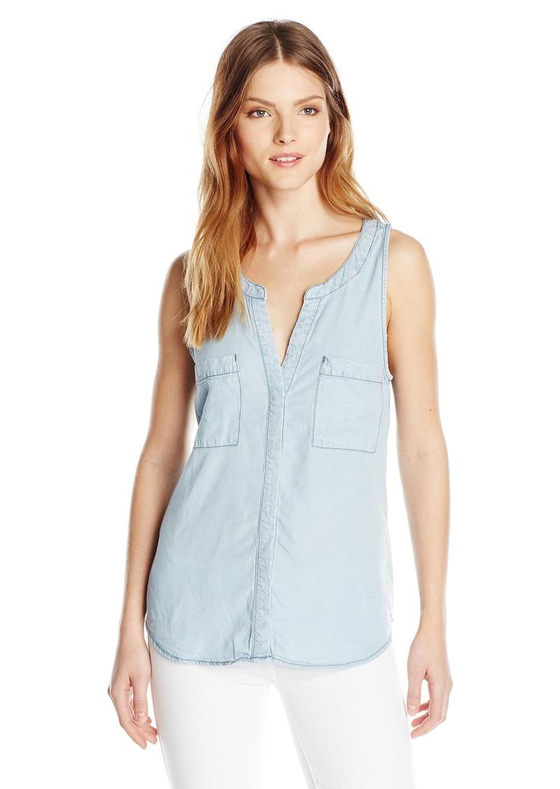 Sanctuary Clothing Women's Craft Tencel Sleeveless Blouse  Medium