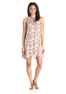 Sanctuary Clothing Women's Heather Empire Waist Printed Dress with Keyhole