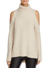 Sanctuary Cold Shoulder Turtleneck Sweater