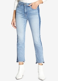 Sanctuary Colorblocked Cropped Step-Hem Jeans