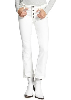 Sanctuary Connector Button Fly Kick Crop Jeans (Angeleno White)