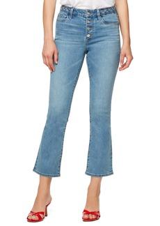 Sanctuary Connector High Waist Kick Flared Crop Jeans (Rambler)