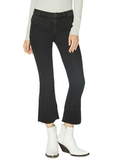 Sanctuary Connector Kick Crop Jeans (Noir Black)