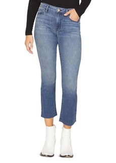 Sanctuary Connector Kick Cropped Jeans in District Blue