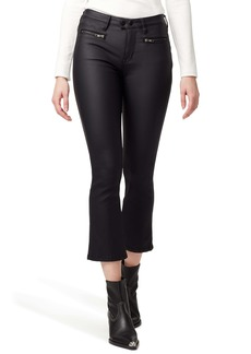Sanctuary Connector Zip Pocket Coated Kick Crop Pants