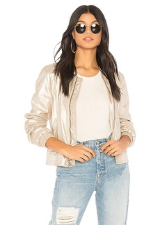 Sanctuary Cool Gang in the Town Jacket in Metallic Gold. - size L (also in M,S,XS)