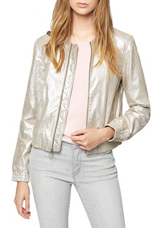 Sanctuary Cool Gang Metallic Leather Bomber Jacket