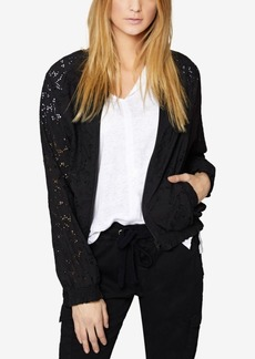 Sanctuary Cotton Lace Bomber Jacket