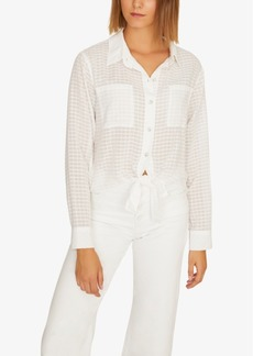 Sanctuary Resort Solid Tie-Front Button-Up Top