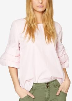 Sanctuary Cotton Tucked-Sleeve Blouse
