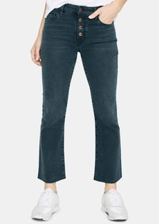 Sanctuary Connector Kick-Crop Button Front Capri Jeans