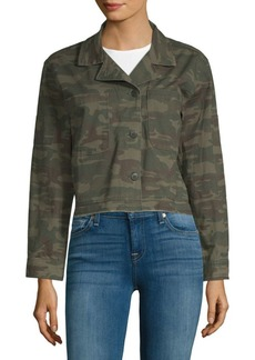 Sanctuary Cropped Camo Jacket