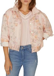 Sanctuary Cropped Floral-Print Jacket