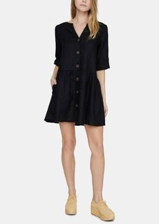 Sanctuary Crossroads Linen Button-Front Dress