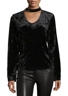 Sanctuary Daisy Velvet Long-Sleeve Shirt