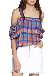 Sanctuary Dawn Printed Cold-Sleeve Blouse