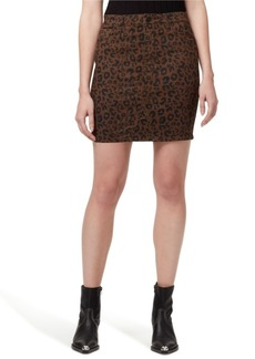 Sanctuary Denim Sia Leopard Printed Jean Skirt
