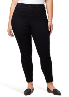 Sanctuary Plus Denim Social Standard High Rise Skinny Ankle Jeans with Raw Hem