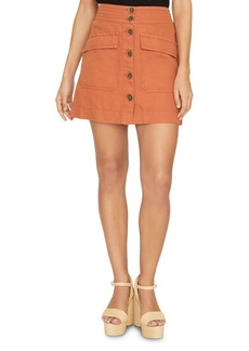 Sanctuary Desert Button-Front Mini Skirt
