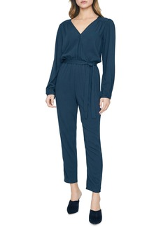 Sanctuary Desk to Dinner Wrap Front Long Sleeve Jumpsuit (Regular & Petite)