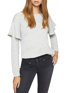 Sanctuary Dominique Metallic Ruffled Sweatshirt