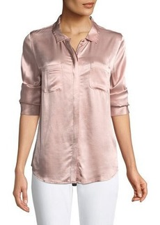 Sanctuary Dreamer Charmeuse Button-Front Shirt