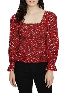 Sanctuary Electra Print Smocked Top