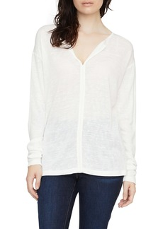 Sanctuary Elina Split Neck Long Sleeve Tee (Regular & Petite)