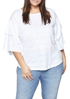 Sanctuary Elise Ruffled Eyelet Top (Plus Size)