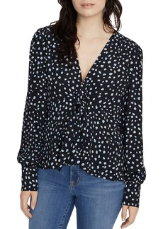Sanctuary Ella Dotted Tie-Front Blouse