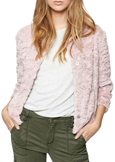 Sanctuary Embellished Faux Fur Chubby Jacket