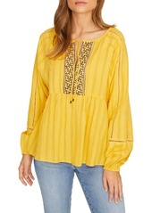 Sanctuary Embroidered Long Sleeve Top