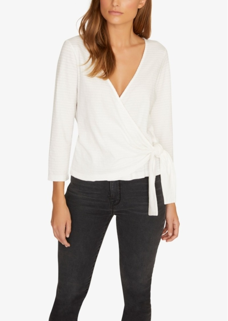 Sanctuary Emelie Cotton Textured Wrap Top