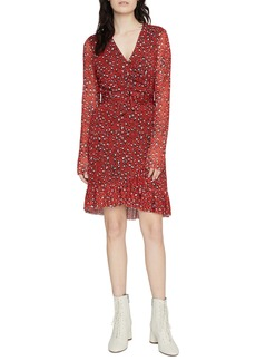 Sanctuary Emma Print Long Sleeve Wrap Dress